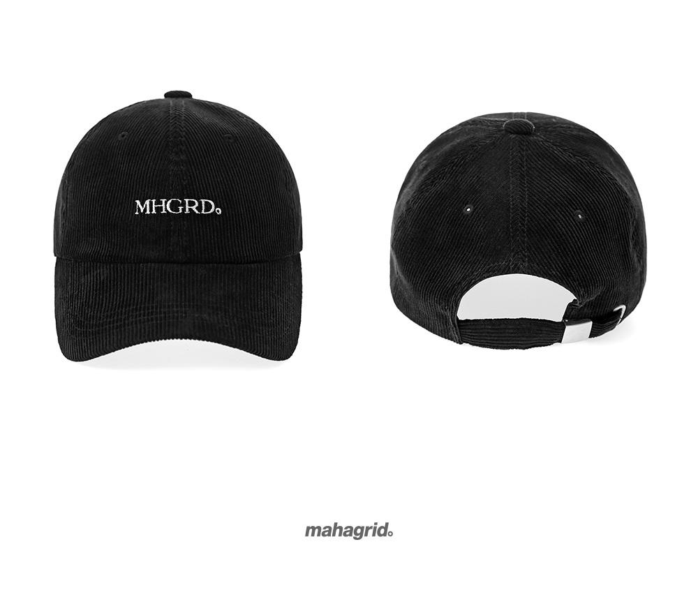 마하그리드(MAHAGRID) CLASSIC LOGO CORDUROY B.B CAP BLACK(MG2AFMAB22A)