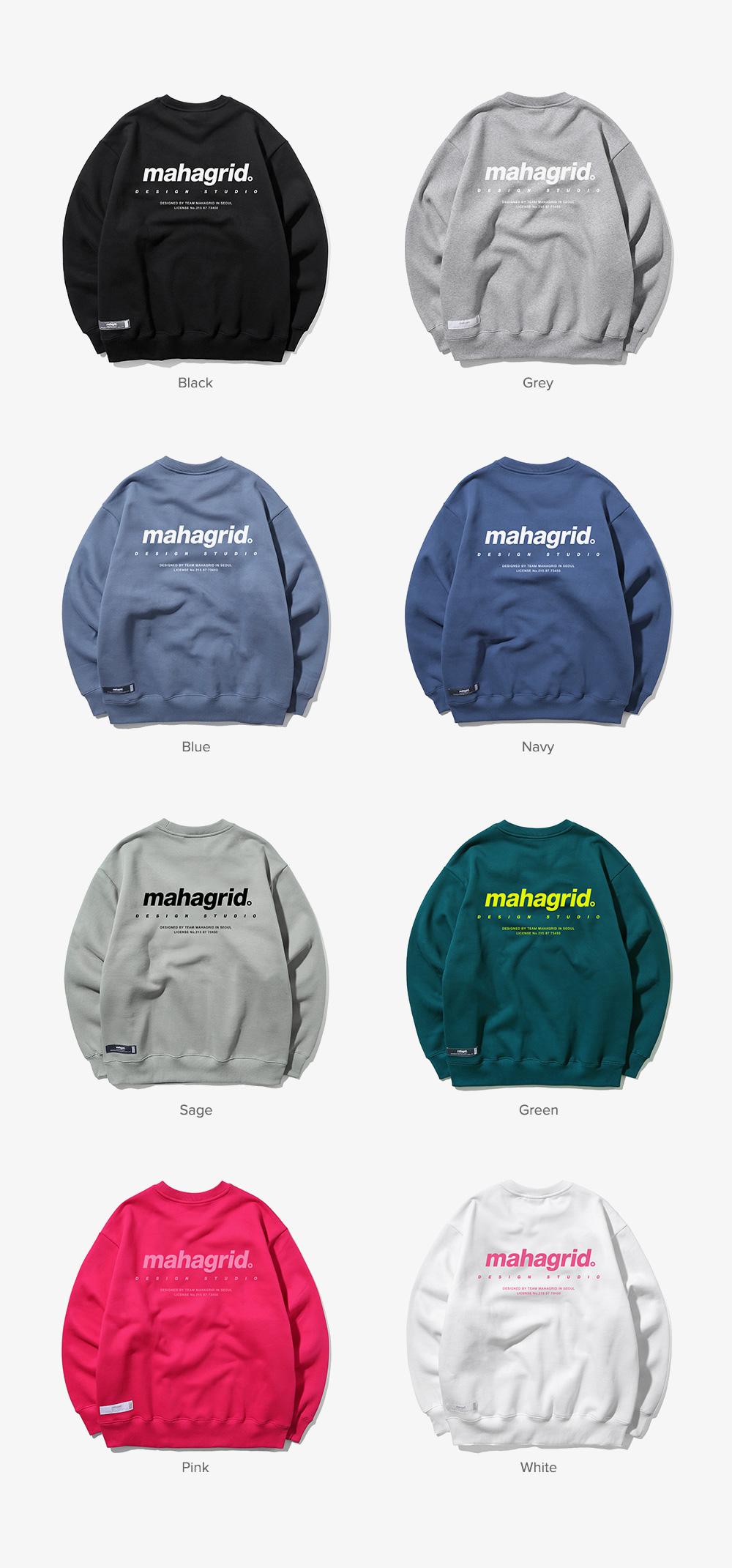 마하그리드(MAHAGRID) ORIGIN LOGO CREWNECK WHITE(MG1JFMM462A)