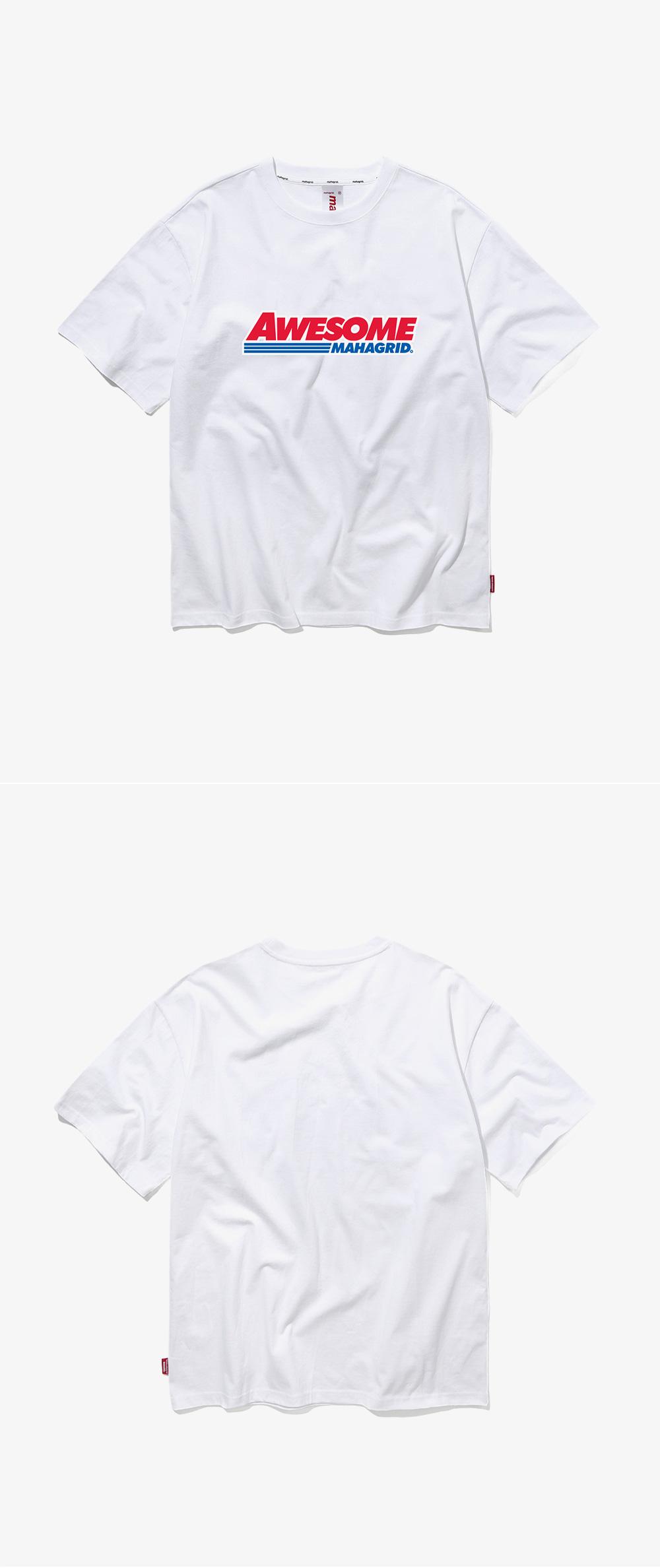 마하그리드(MAHAGRID) AWESOME TEE WHITE (MG1JMMT503B)