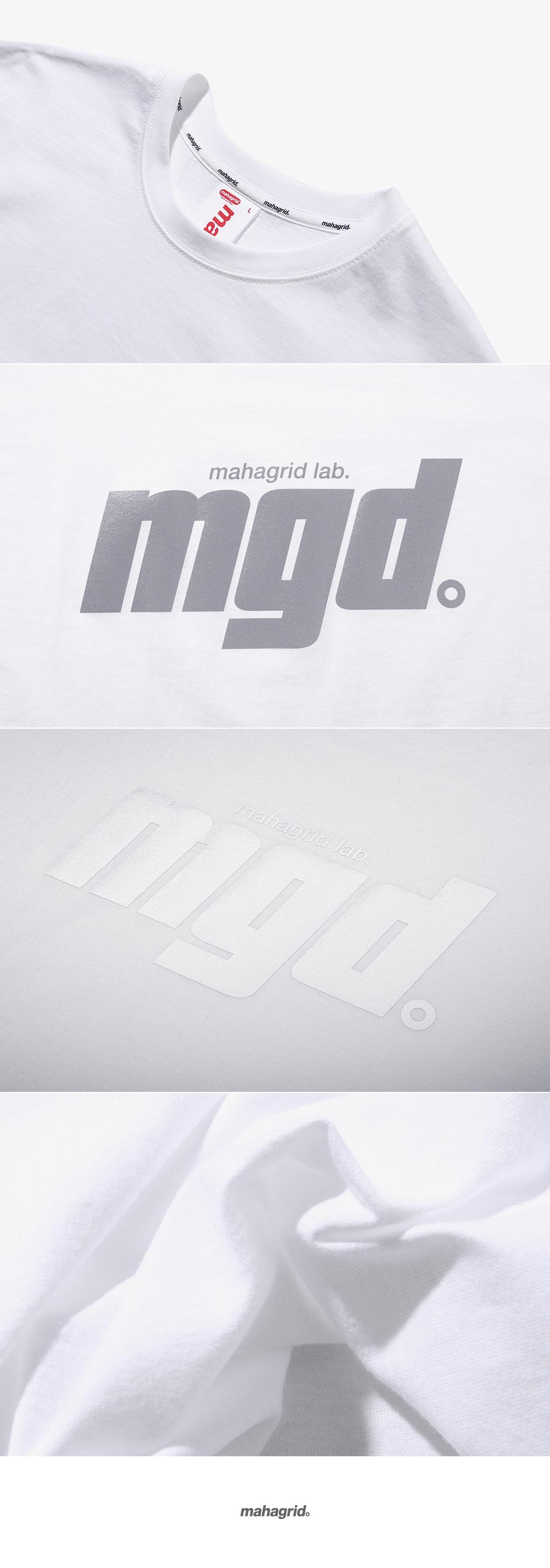 마하그리드(MAHAGRID) REFLECTIVE BOLD LOGO TEE WHITE(MG1JMMT504B)
