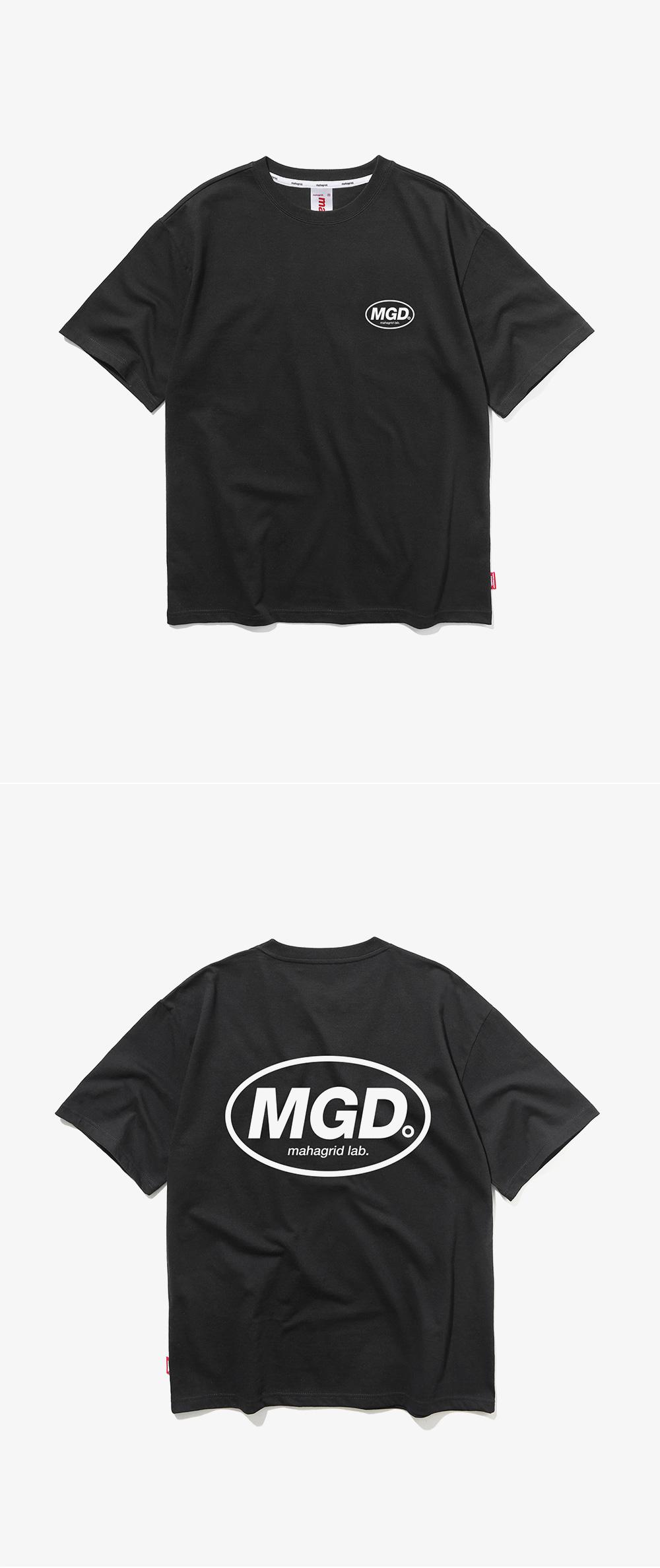 마하그리드(MAHAGRID) BACK MGD TEE BLACK (MG1JMMT507A)