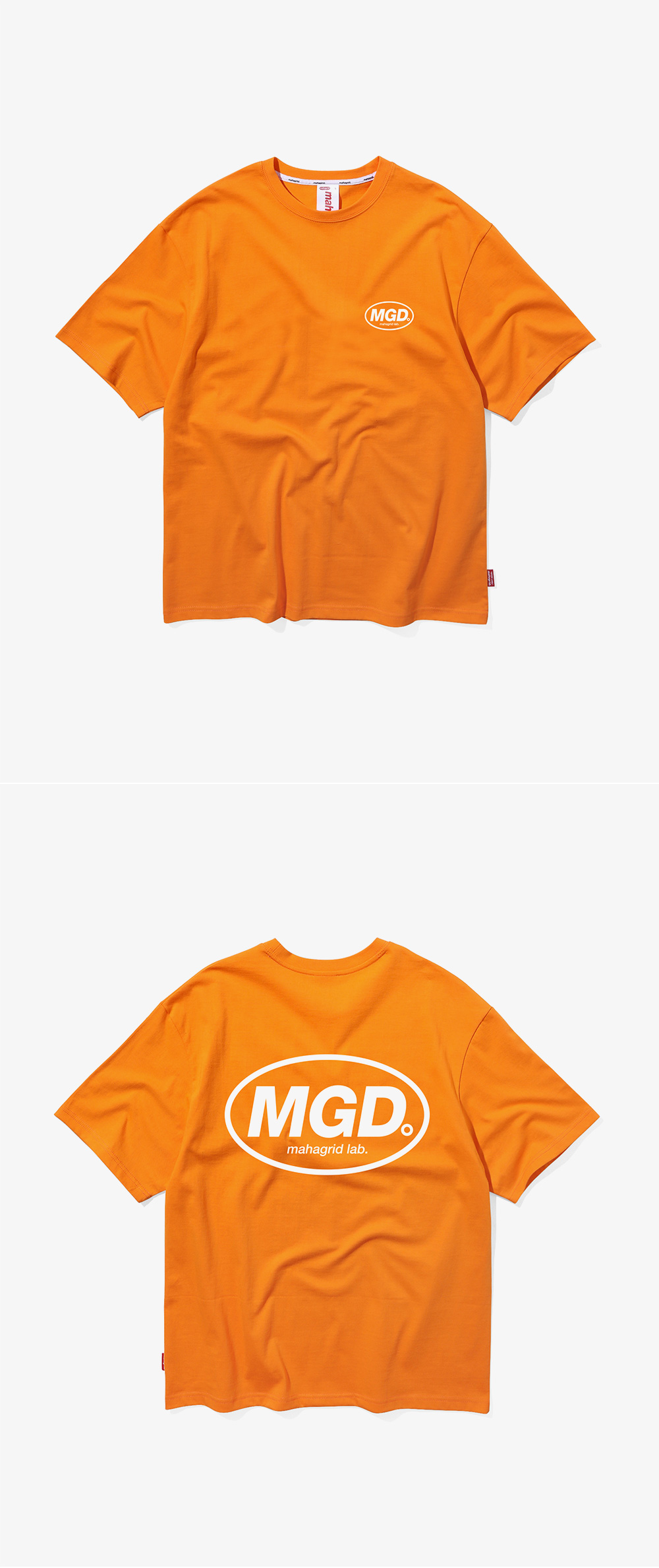 마하그리드(MAHAGRID) BACK MGD TEE ORANGE (MG1JMMT507A)