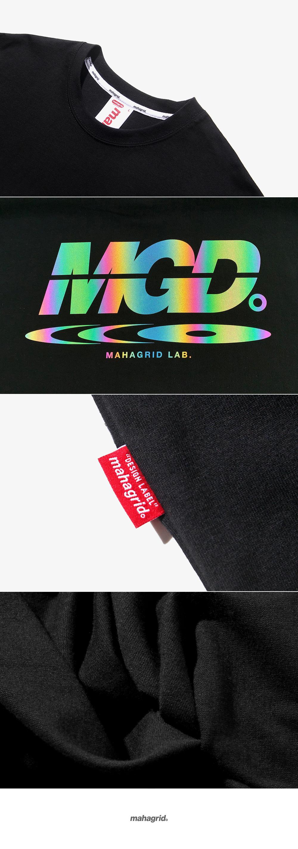마하그리드(MAHAGRID) RAINBOW REFLECTOR DISC TEE BLACK(MG1JMMT507B)