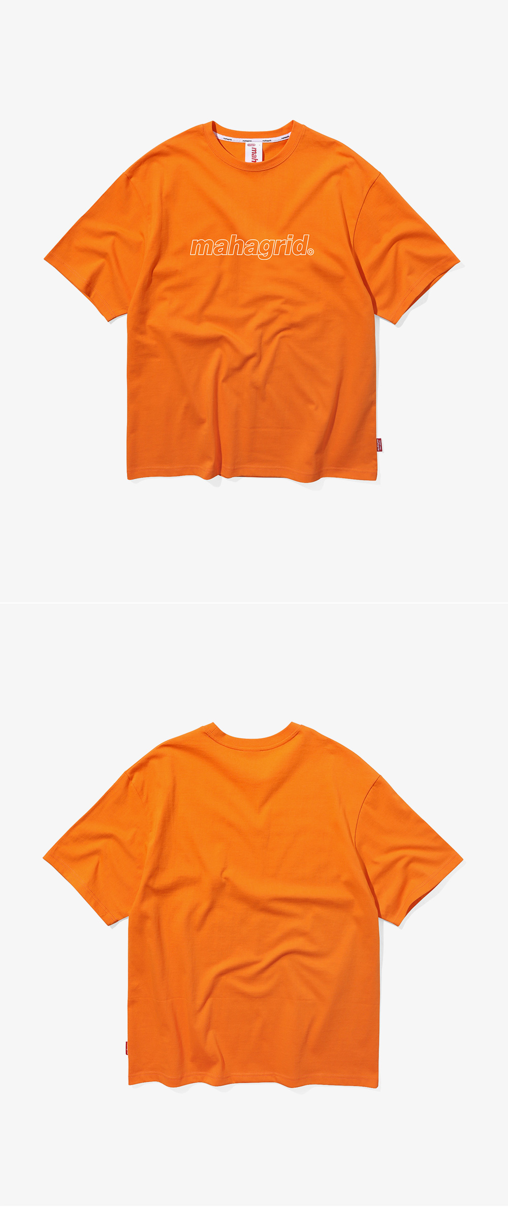 마하그리드(MAHAGRID) OUTLINE LOGO TEE ORANGE(MG1JMMT508A)