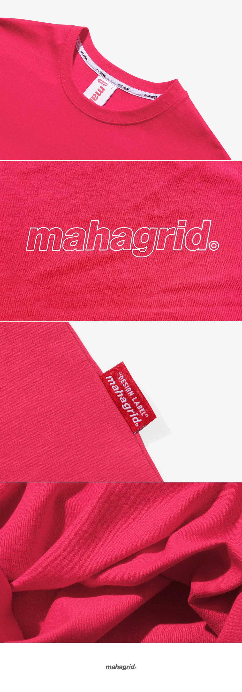 마하그리드(MAHAGRID) OUTLINE LOGO TEE PINK(MG1JMMT508A)
