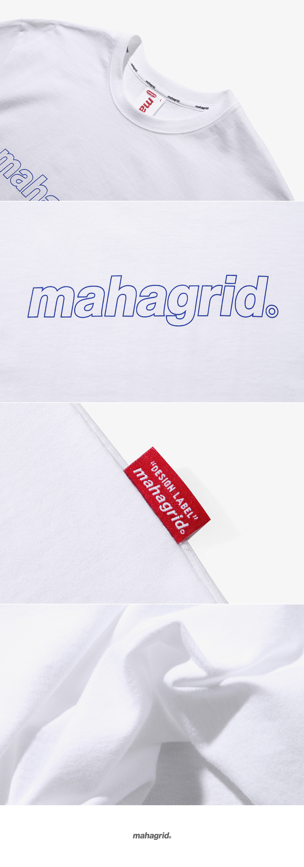 마하그리드(MAHAGRID) OUTLINE LOGO TEE WHITE(MG1JMMT508A)