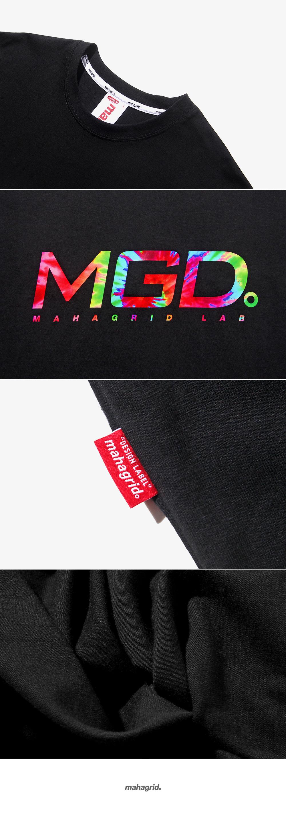마하그리드(MAHAGRID) TIE DYE TEE BLACK (MG1JMMT509A)