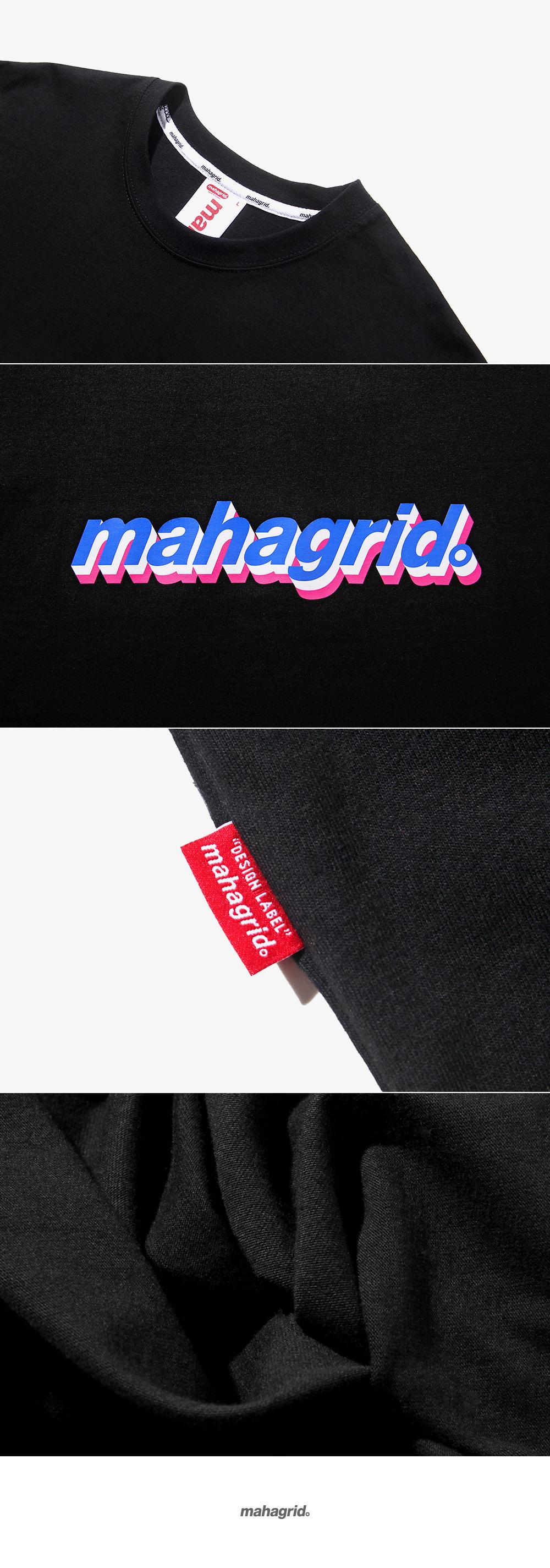 마하그리드(MAHAGRID) SANDWICH LOGO TEE BLACK (MG1JMMT516B)