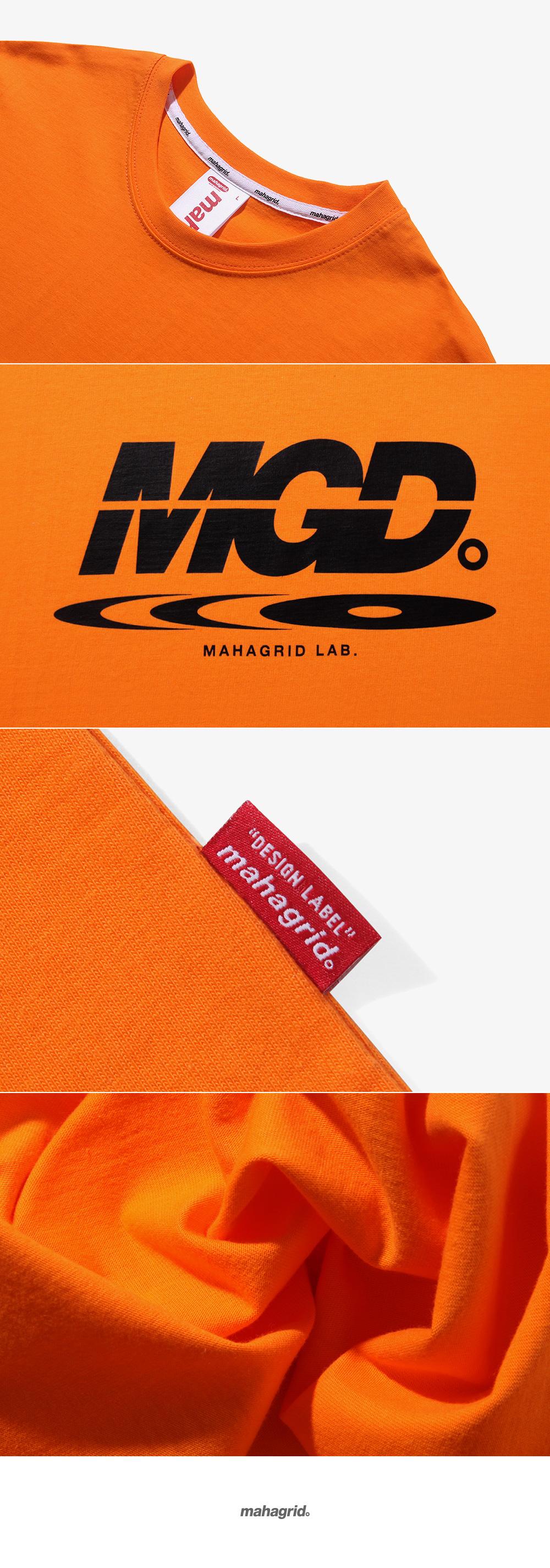 마하그리드(MAHAGRID) DISC LOGO TEE ORANGE (MG1JMMT519A)