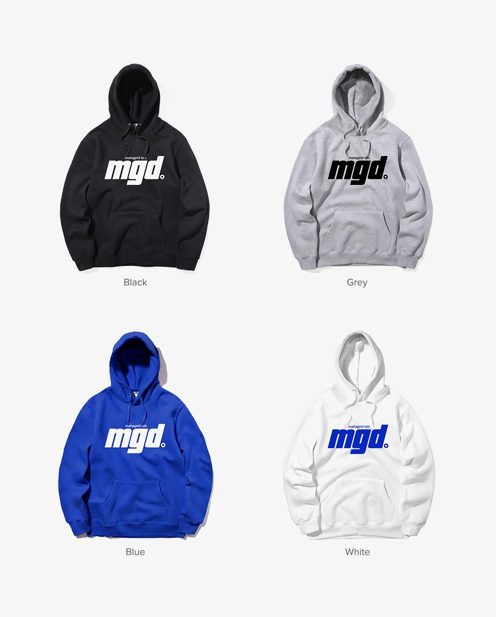 마하그리드(MAHAGRID) BOLD MGD HOODIE BLUE(MG1JSMM410A)