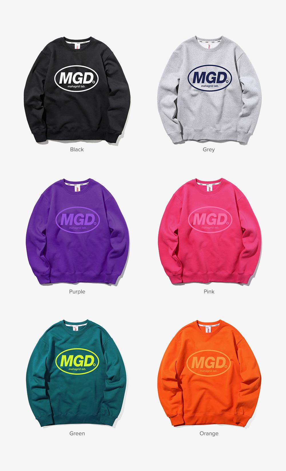 마하그리드(MAHAGRID) MGD CREWNECK BLACK(MG1JSMM481A)
