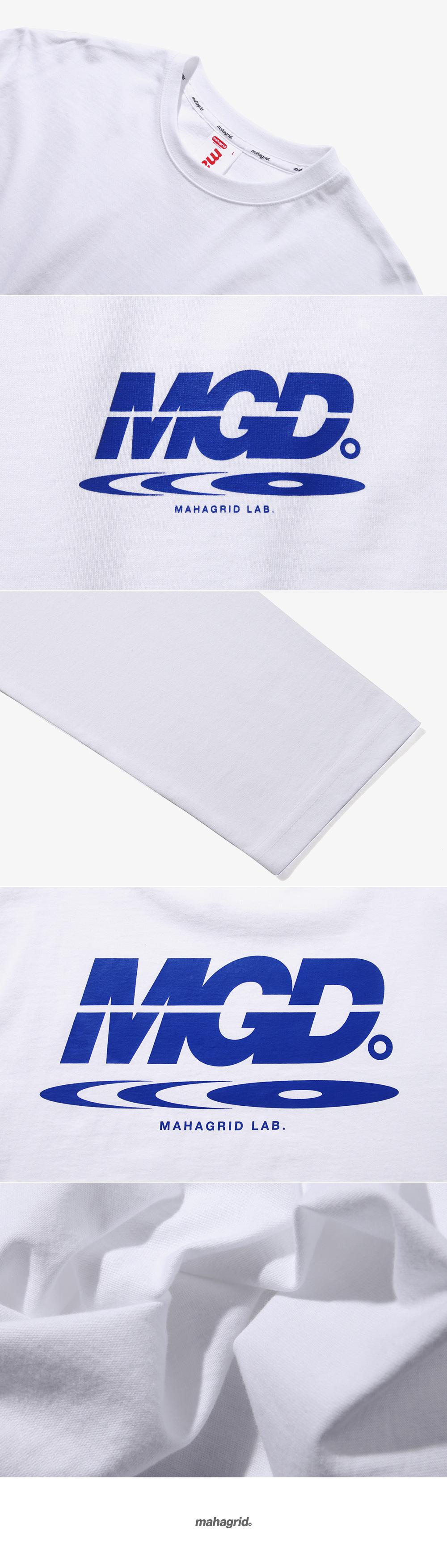 마하그리드(MAHAGRID) DISC LOGO LS TEE WHITE(MG1JSMT553A)