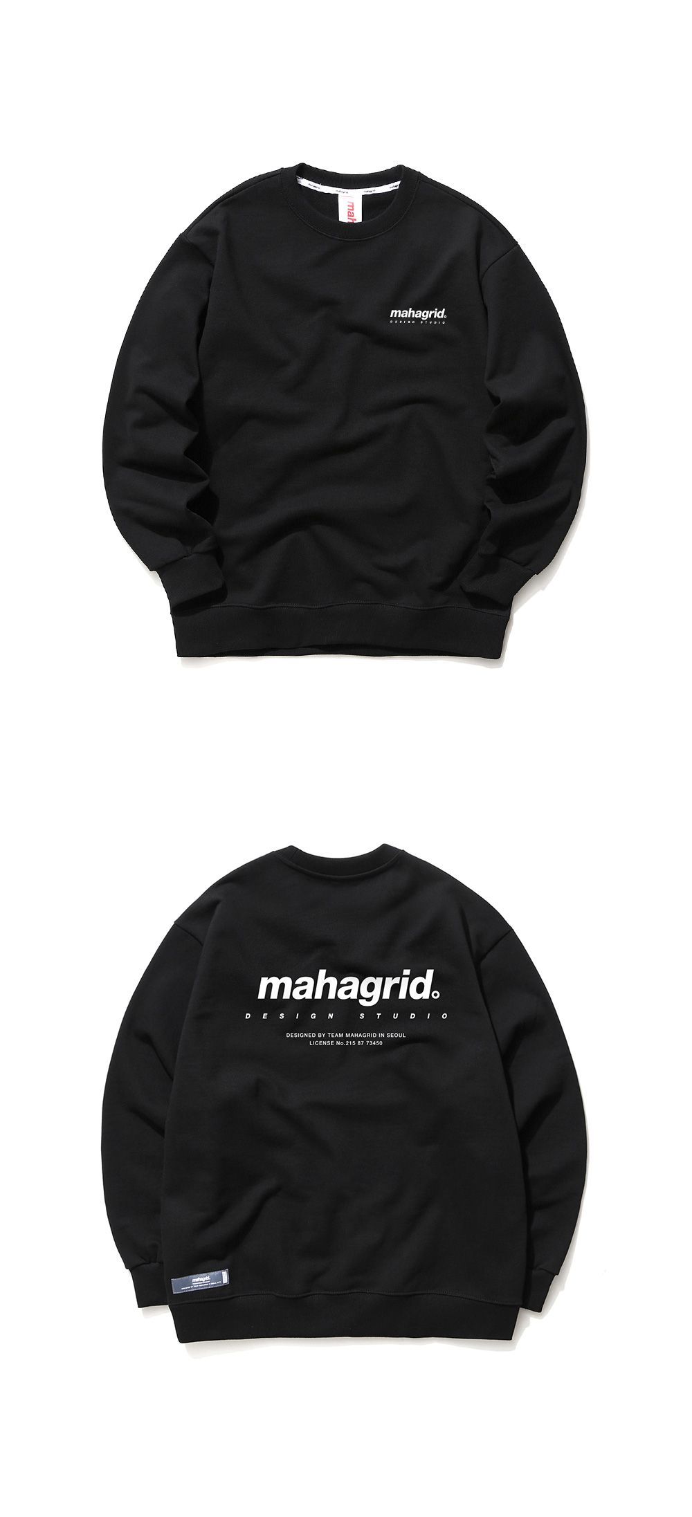 마하그리드(MAHAGRID) ORIGIN LOGO CREWNECK BLACK(MG2AFMM480A)