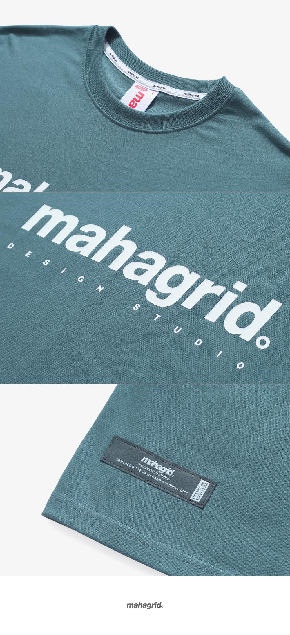 마하그리드(MAHAGRID) BASIC LOGO TEE GREEN(MG2AMMT502A)