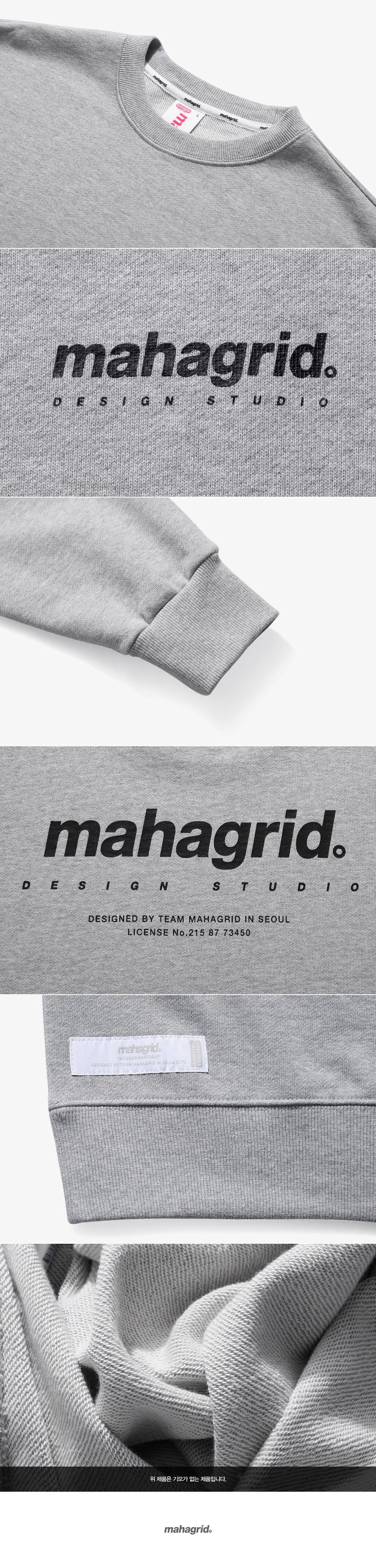 마하그리드(MAHAGRID) ORIGIN LOGO CREWNECK GREY(MG2ASMM480A)