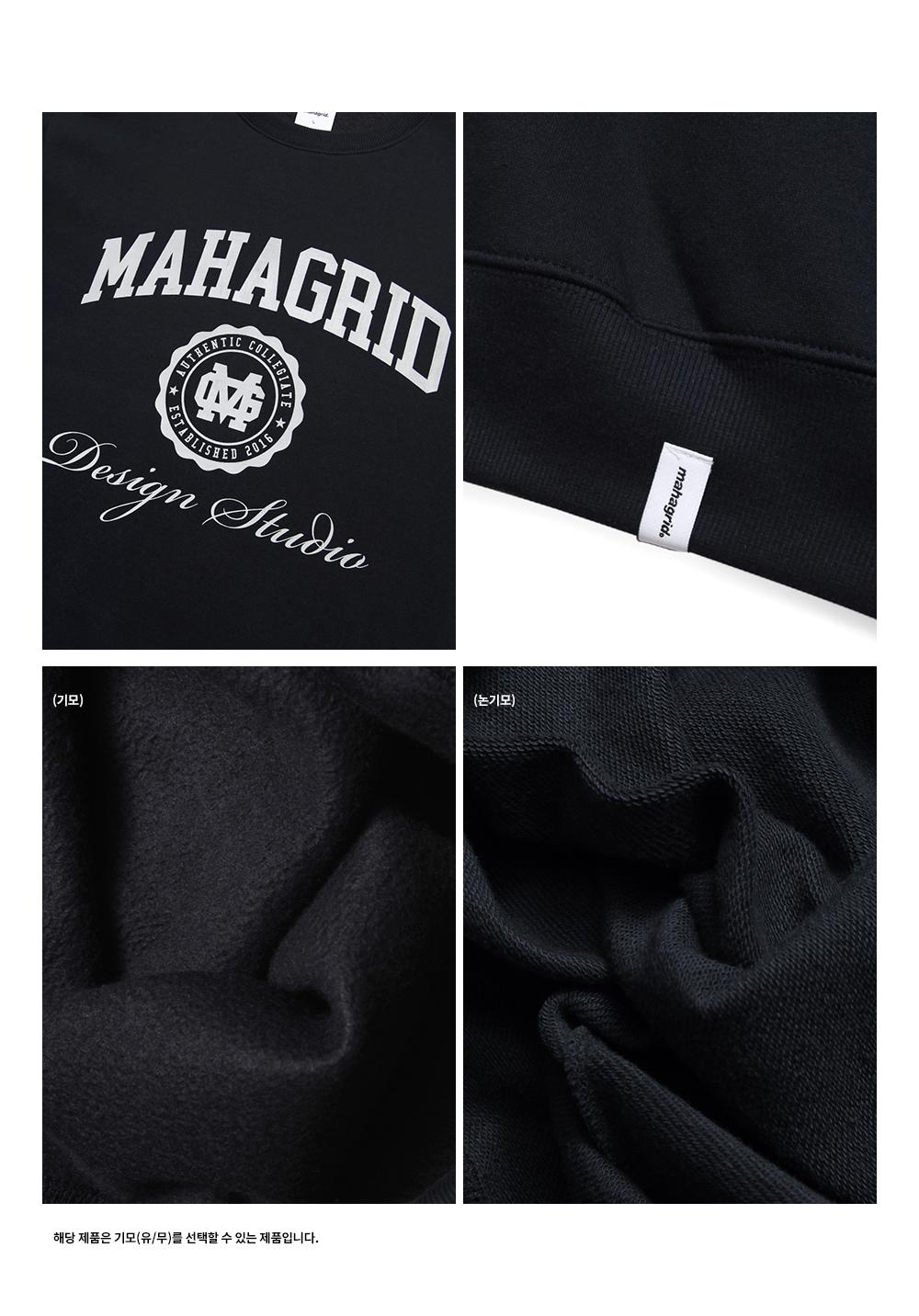 마하그리드(MAHAGRID) AUTHENTIC SWEATSHIRT NAVY(MG2BFMM463A)