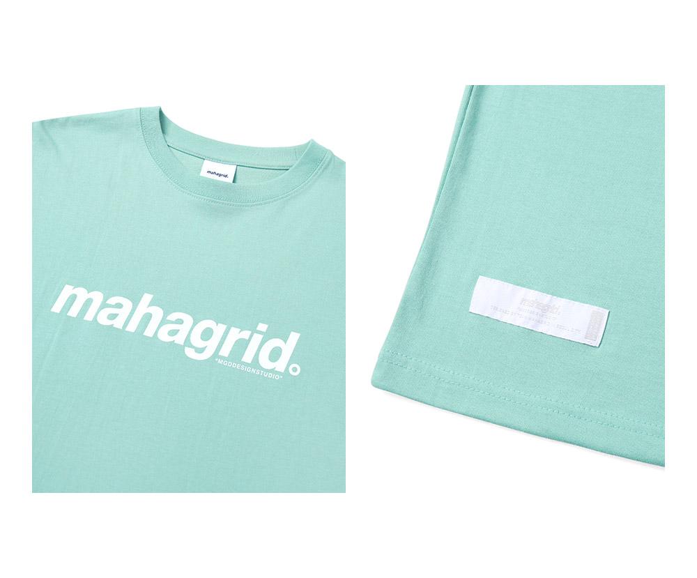 마하그리드(MAHAGRID) BASIC LOGO TEE GREEN(MG2BSMT502A)